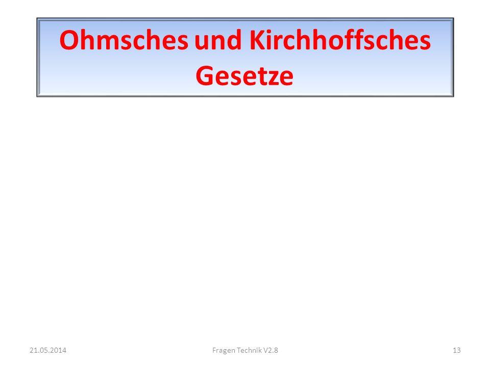 Ohmsches und Kirchhoffsches Gesetze