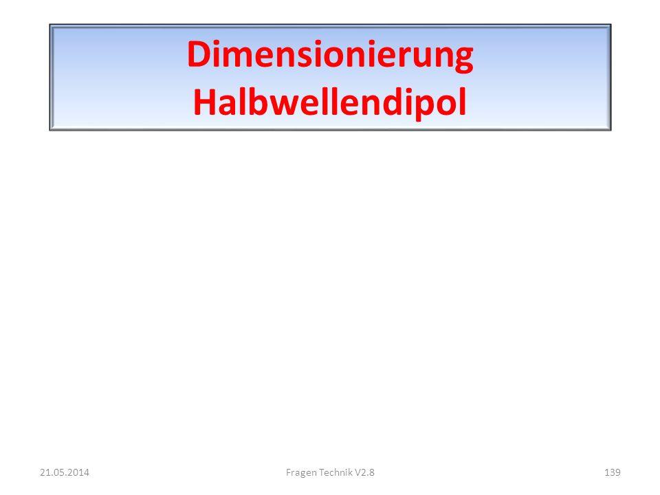 Dimensionierung Halbwellendipol