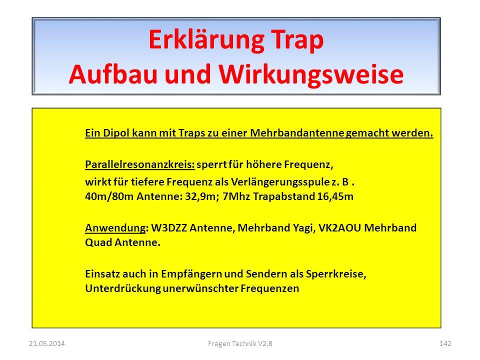 Erklärung Trap Aufbau und Wirkungsweise