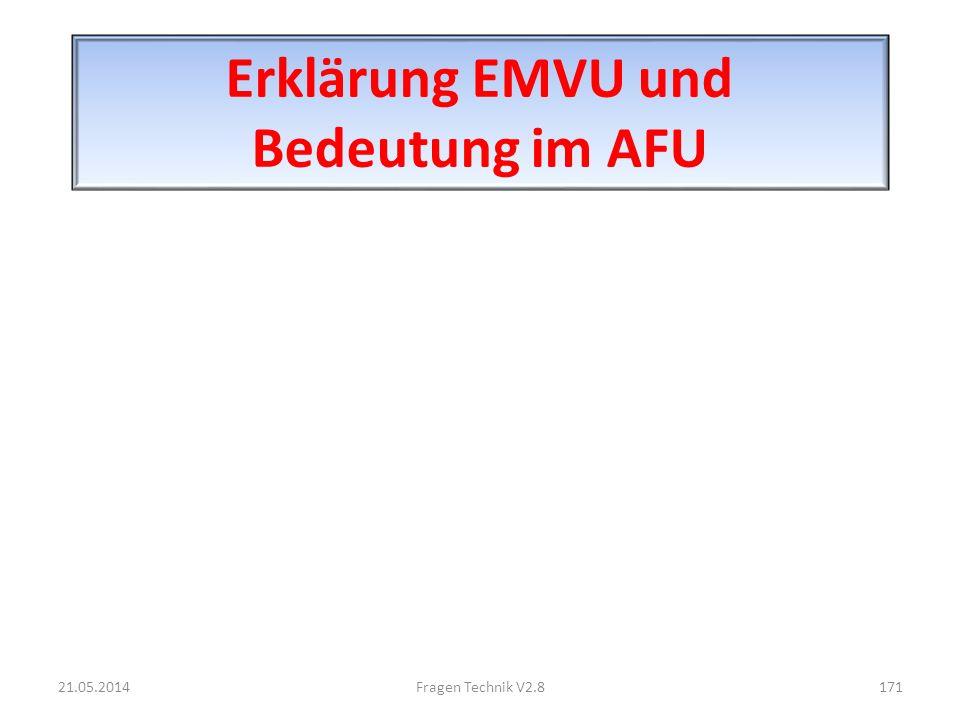 Erklärung EMVU und Bedeutung im AFU