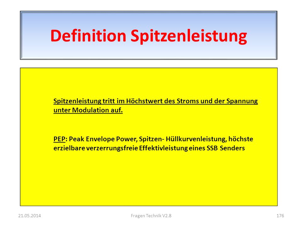 Definition Spitzenleistung