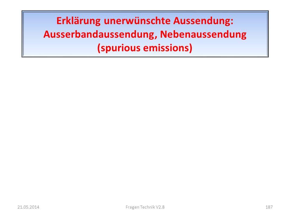 Erklärung unerwünschte Aussendung: Ausserbandaussendung, Nebenaussendung (spurious emissions)