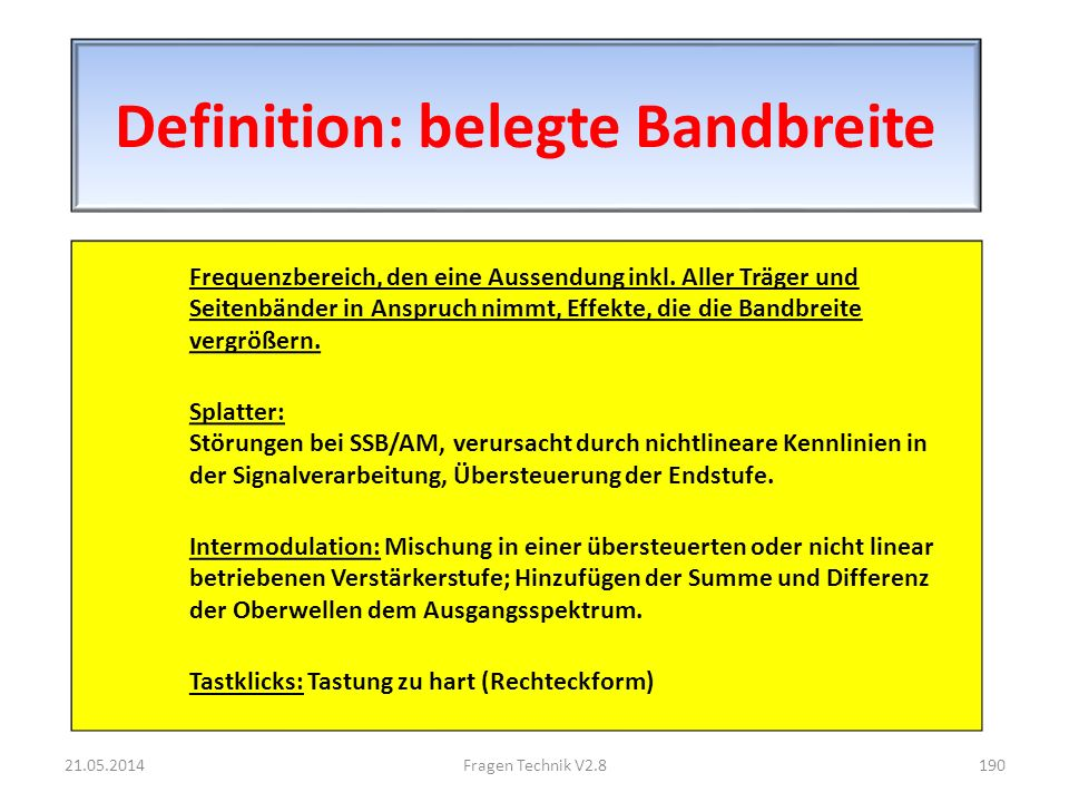Definition: belegte Bandbreite