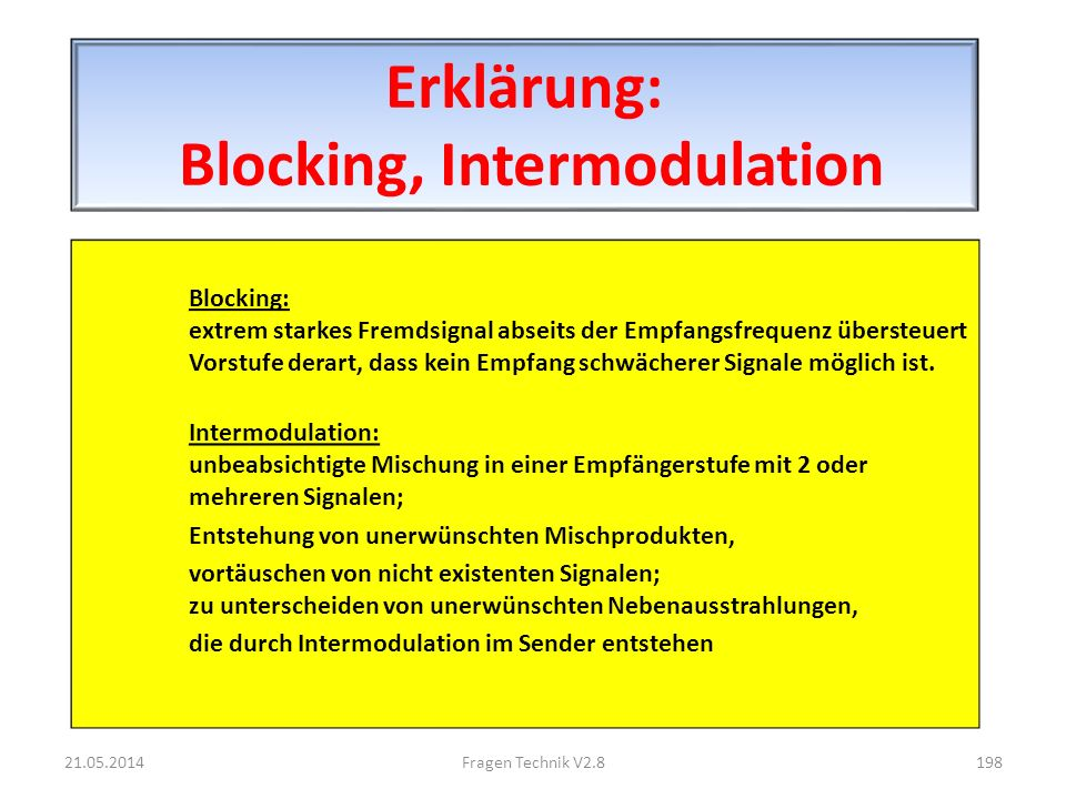 Erklärung: Blocking, Intermodulation