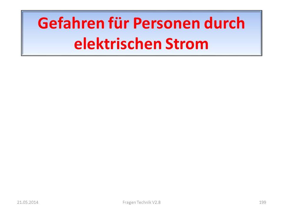 Gefahren für Personen durch elektrischen Strom