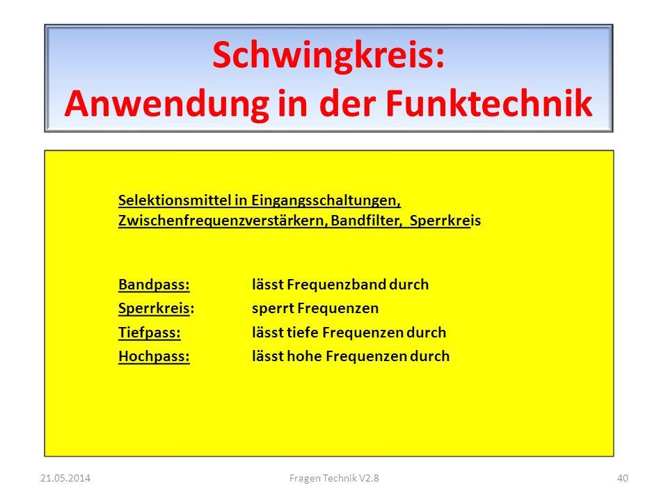 Schwingkreis: Anwendung in der Funktechnik