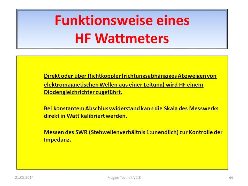 Funktionsweise eines HF Wattmeters