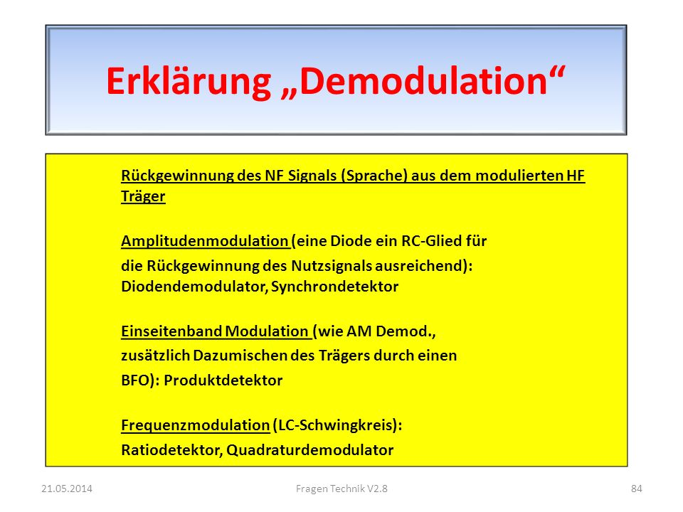 """Erklärung """"Demodulation"""
