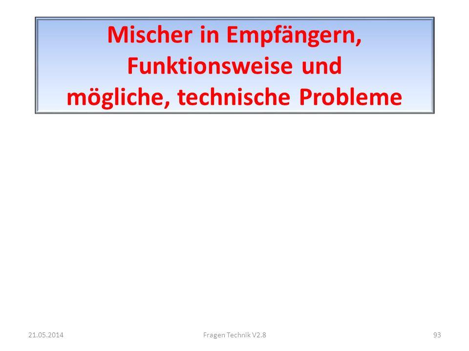 Mischer in Empfängern, Funktionsweise und mögliche, technische Probleme