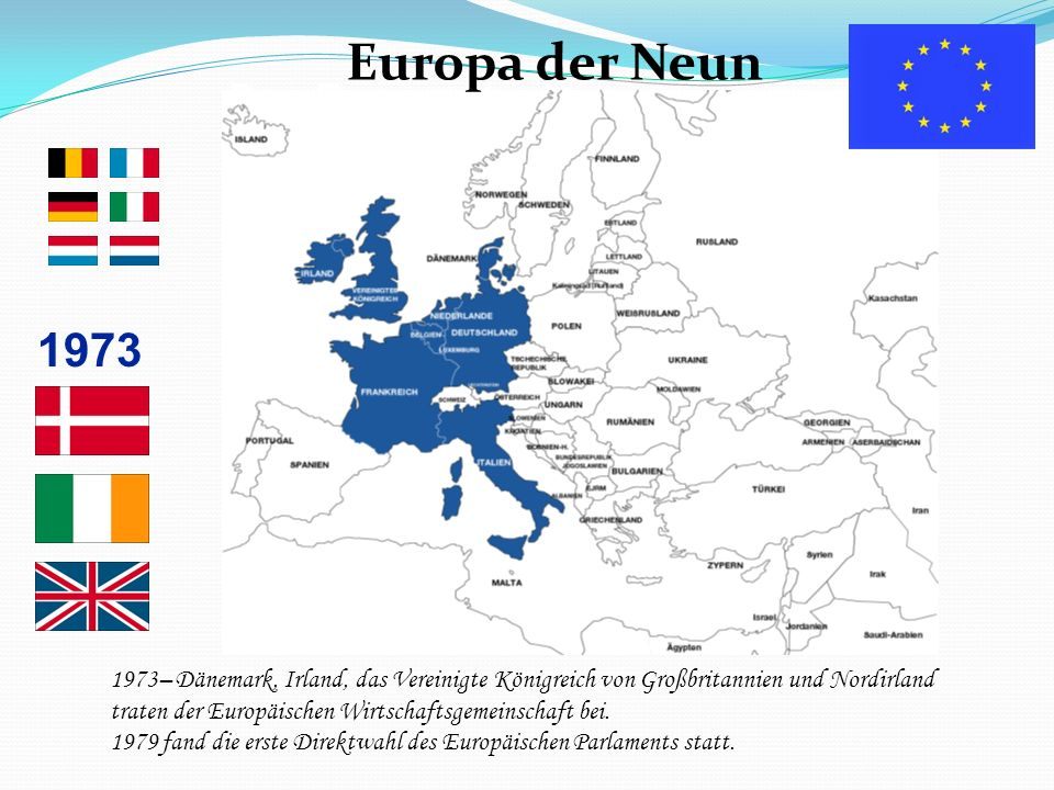 Europa der Neun 1973 Das Europa der Neun