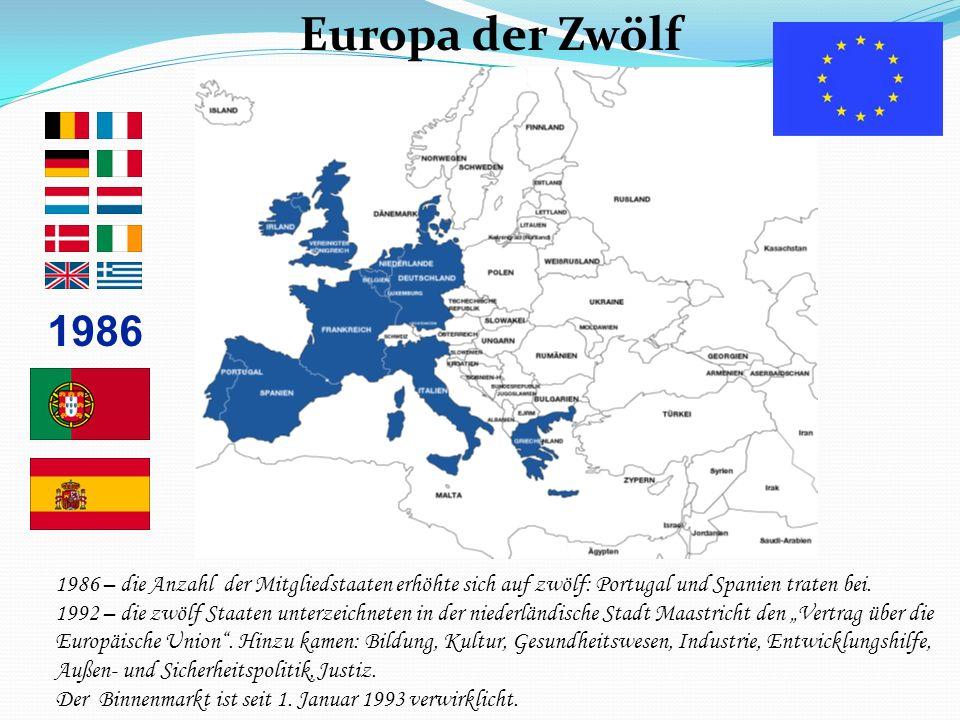 Europa der Zwölf 1986 Das Europa der Zwölf