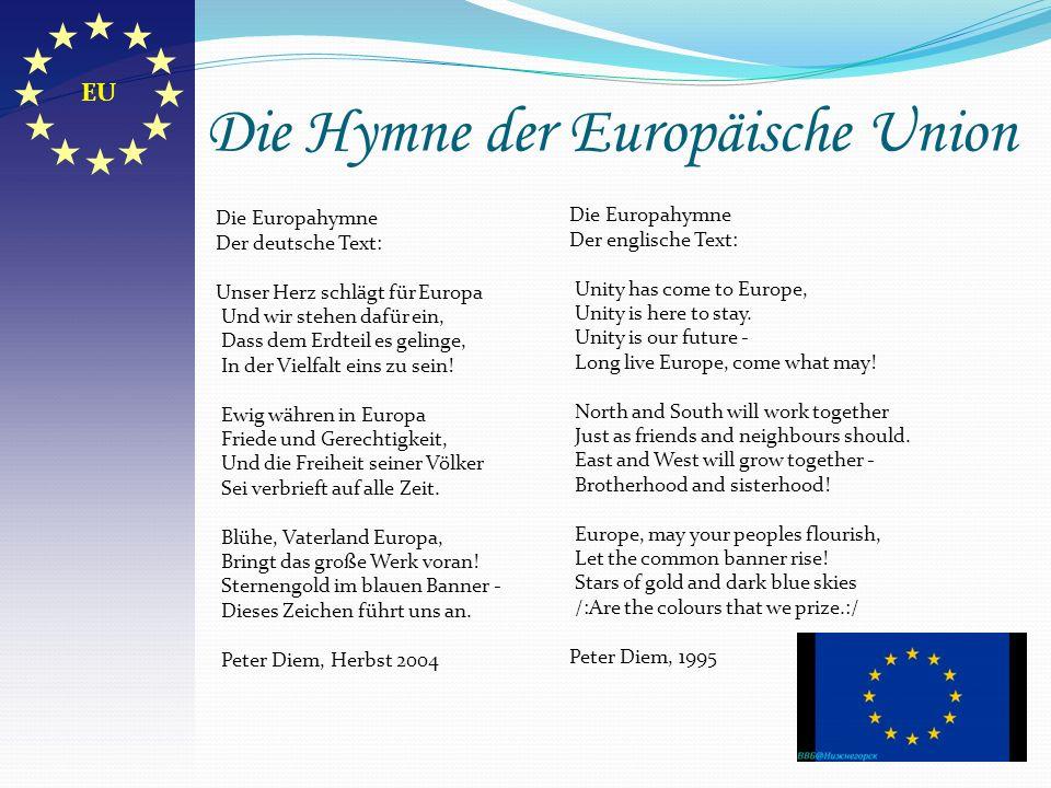 Die Hymne der Europäische Union