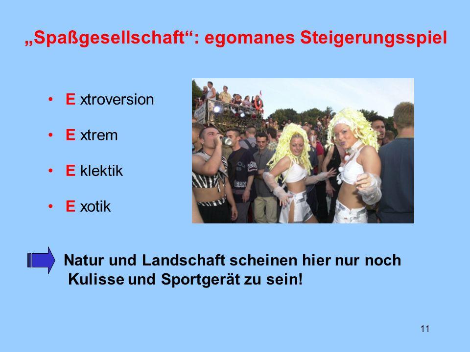 """""""Spaßgesellschaft : egomanes Steigerungsspiel"""