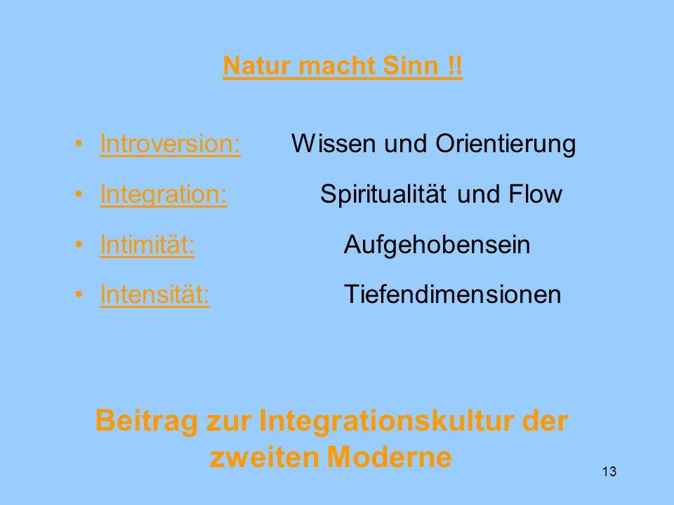 Beitrag zur Integrationskultur der zweiten Moderne