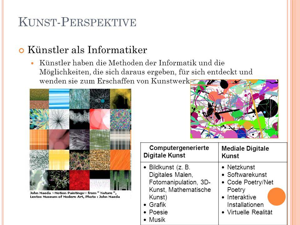 Kunst-Perspektive Künstler als Informatiker