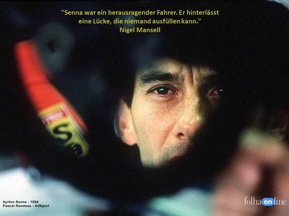 Senna war ein herausragender Fahrer