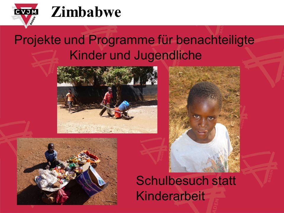 Zimbabwe Projekte und Programme für benachteiligte
