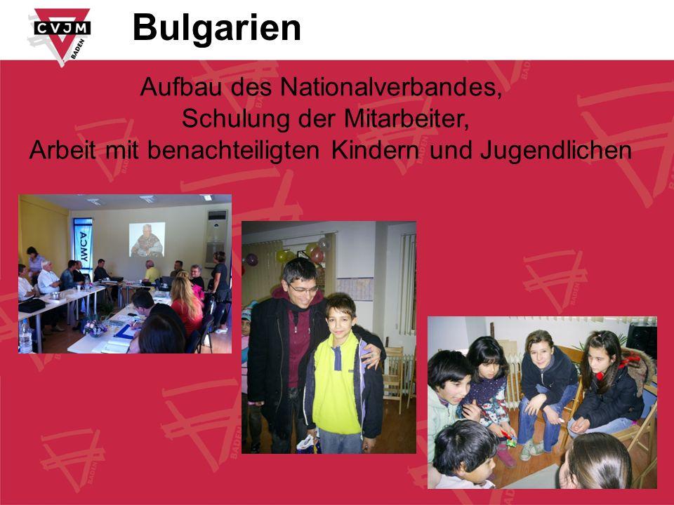 Bulgarien Aufbau des Nationalverbandes, Schulung der Mitarbeiter,