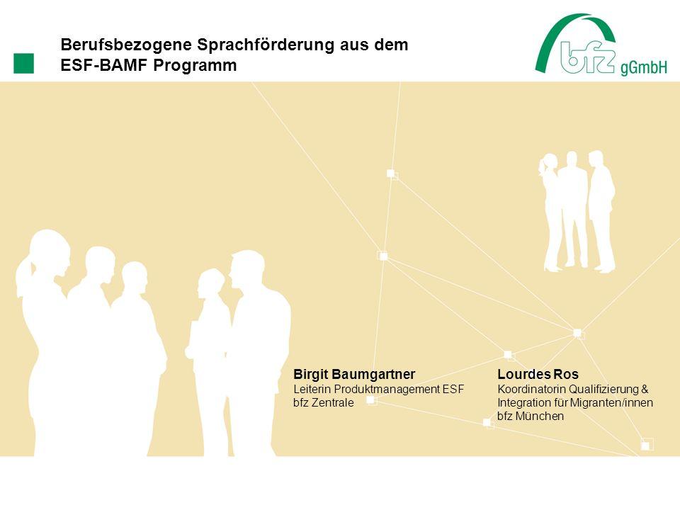 Berufsbezogene Sprachförderung aus dem ESF-BAMF Programm
