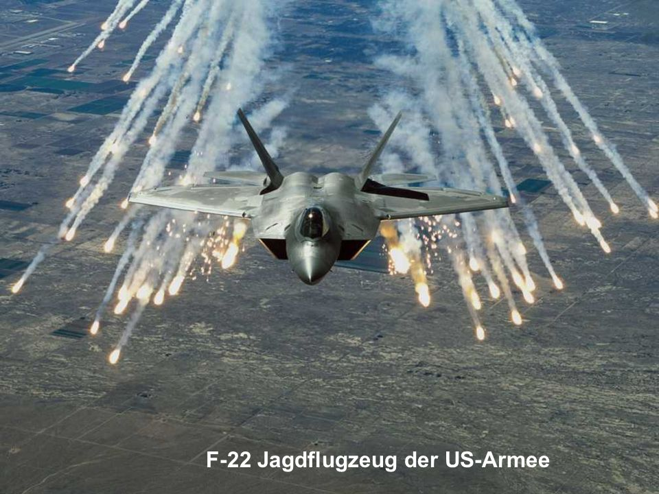 F-22 Jagdflugzeug der US-Armee