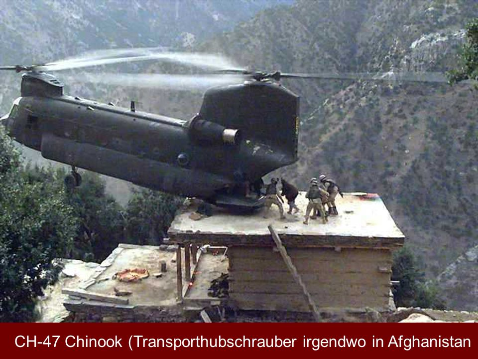 CH-47 Chinook (Transporthubschrauber irgendwo in Afghanistan