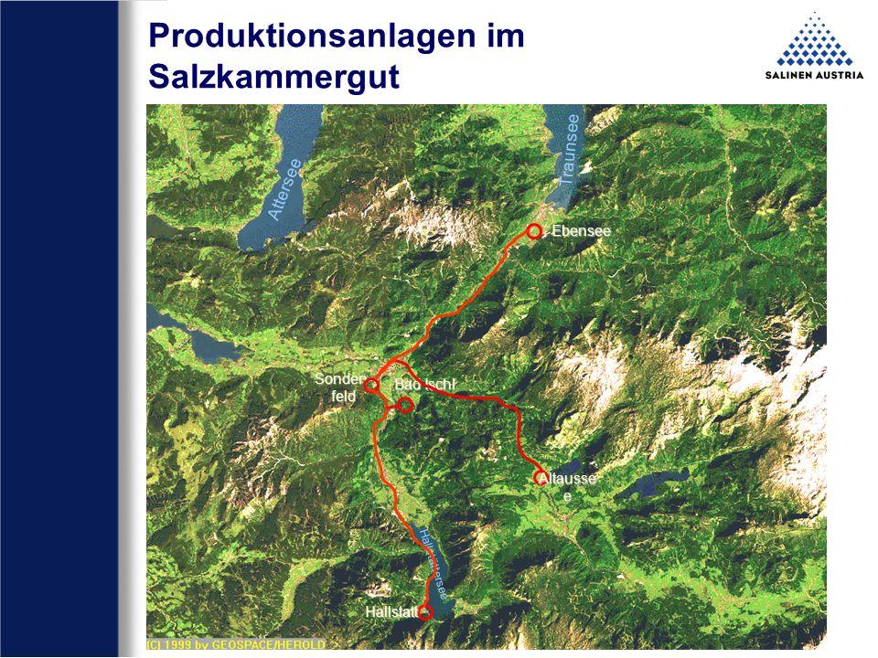 Produktionsanlagen im Salzkammergut