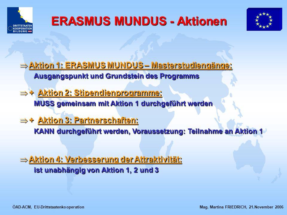 ERASMUS MUNDUS - Aktionen
