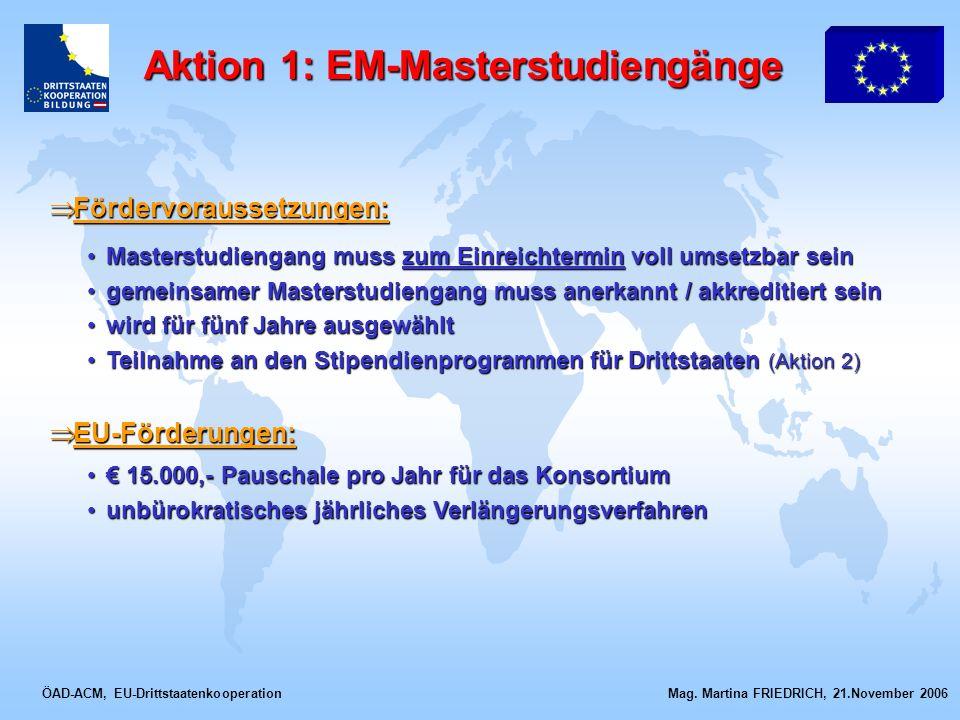 Aktion 1: EM-Masterstudiengänge