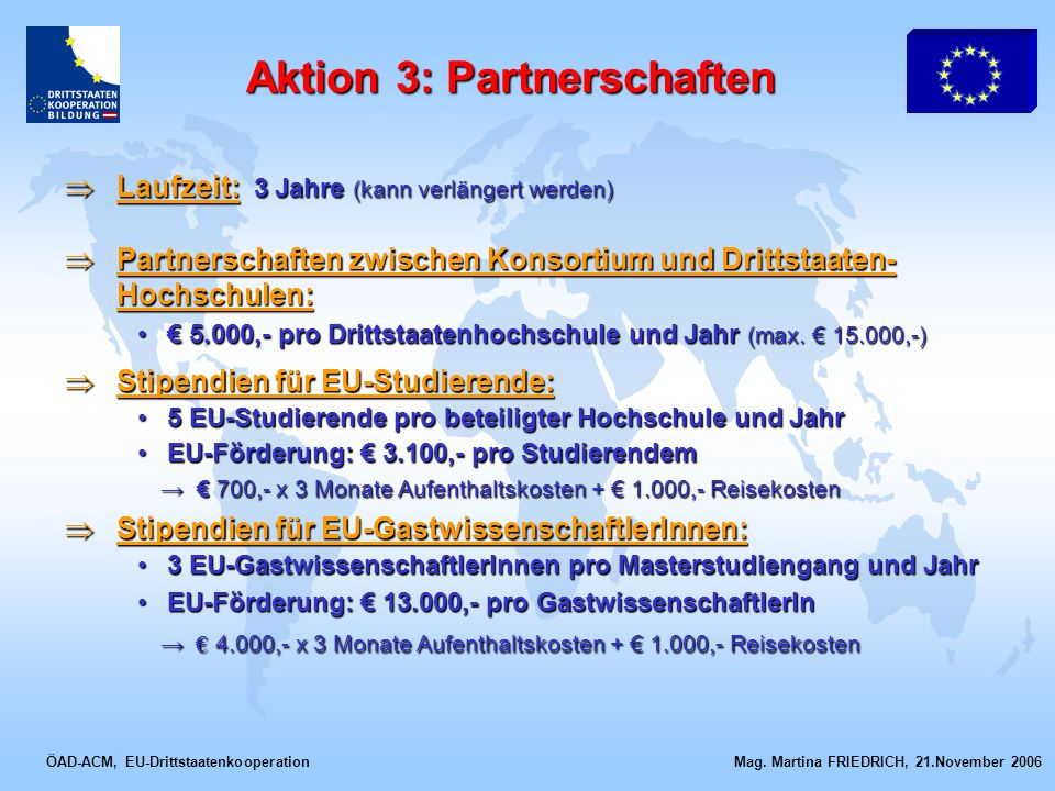 Aktion 3: Partnerschaften