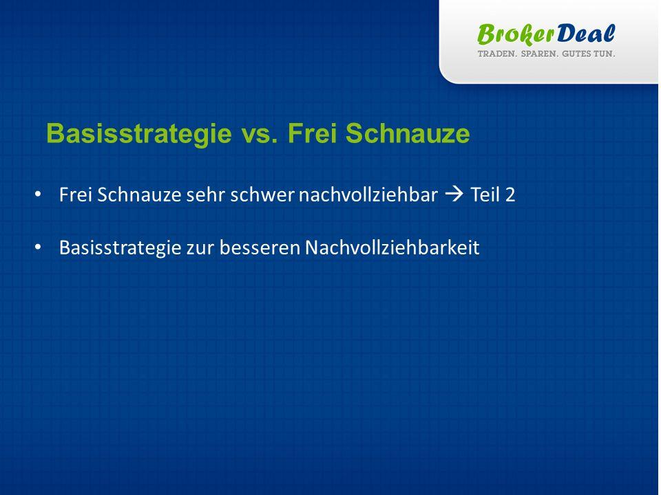 Basisstrategie vs. Frei Schnauze