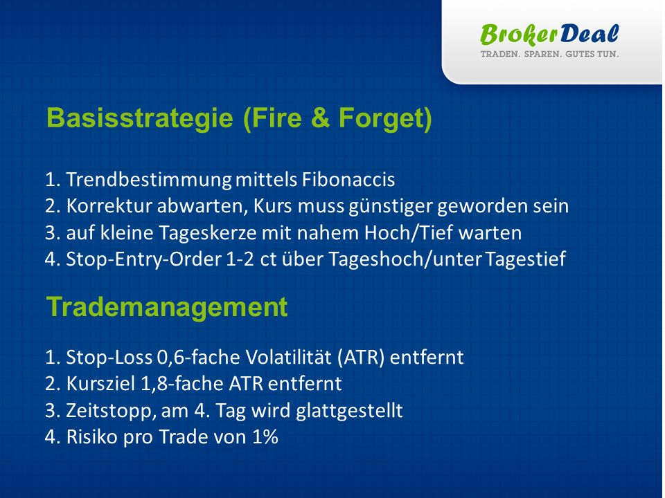 Basisstrategie (Fire & Forget)