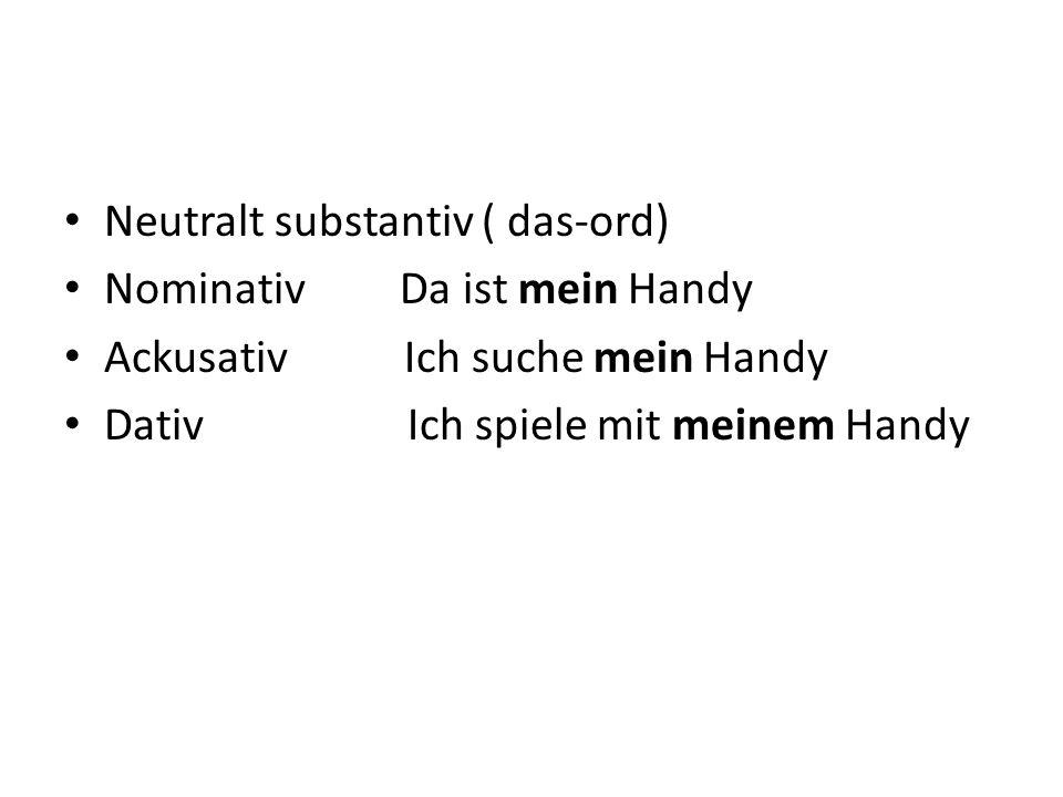 Neutralt substantiv ( das-ord)