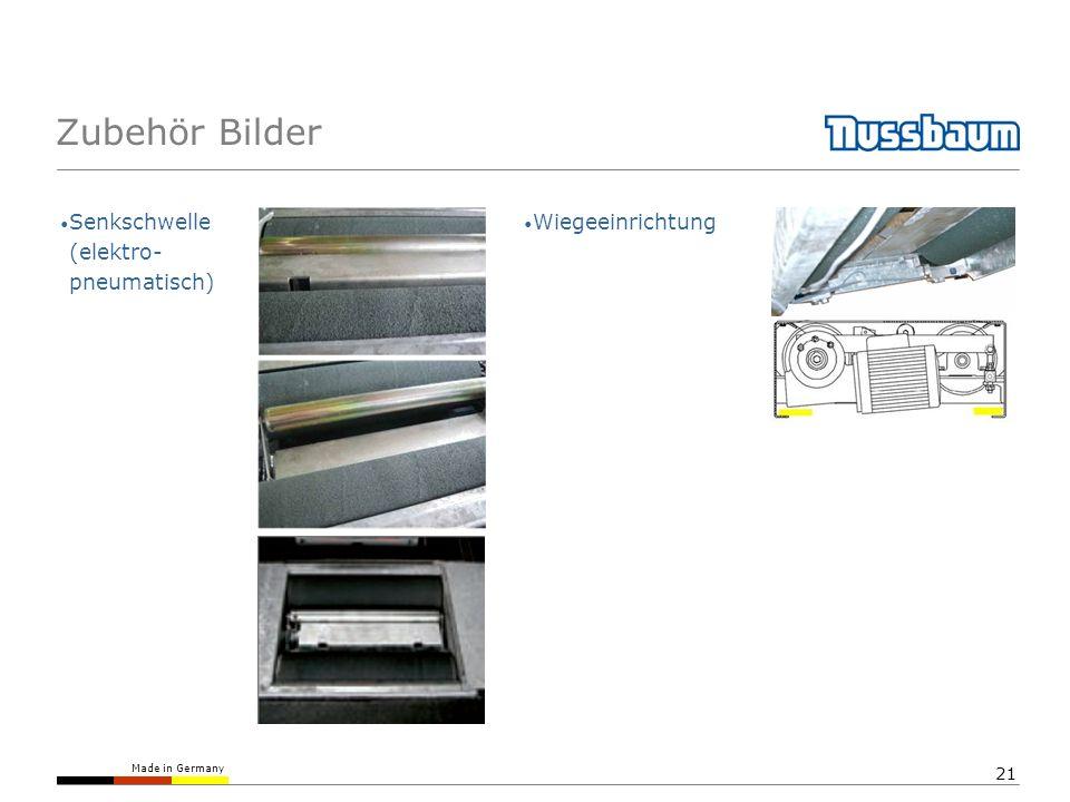 Zubehör Bilder Senkschwelle (elektro- pneumatisch) Wiegeeinrichtung