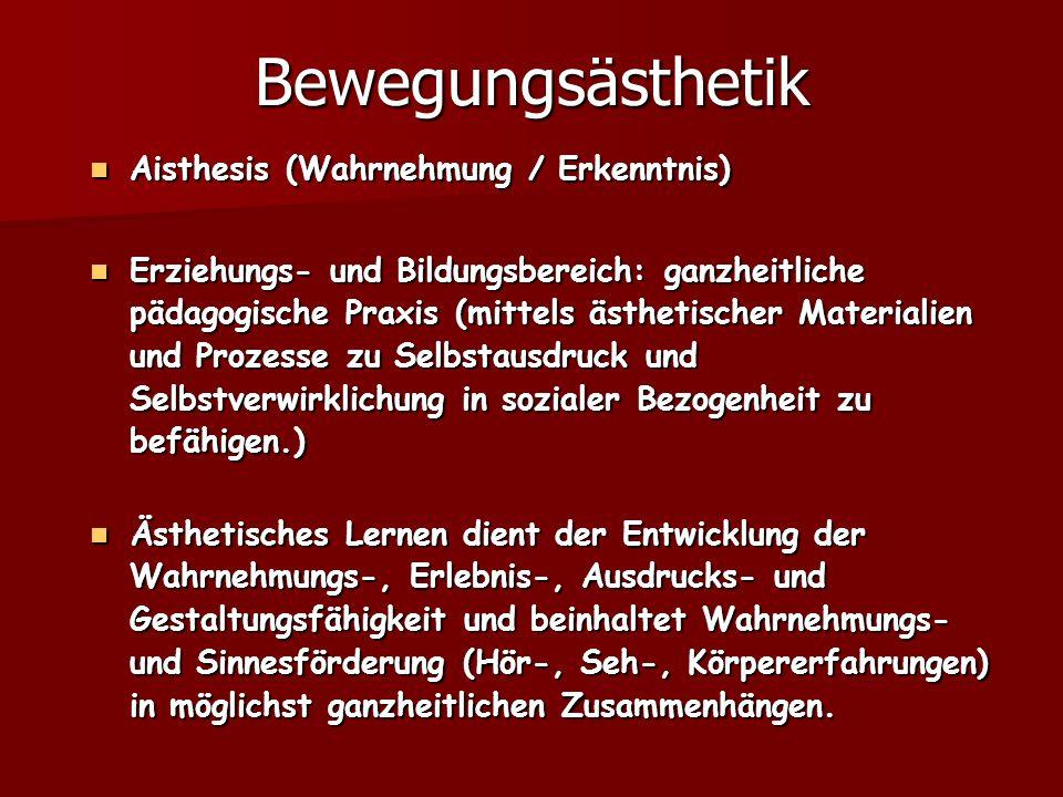 Bewegungsästhetik Aisthesis (Wahrnehmung / Erkenntnis)