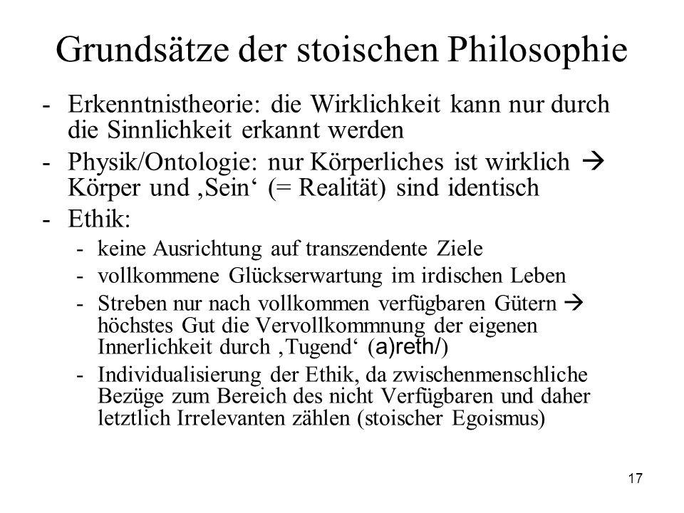 Grundsätze der stoischen Philosophie
