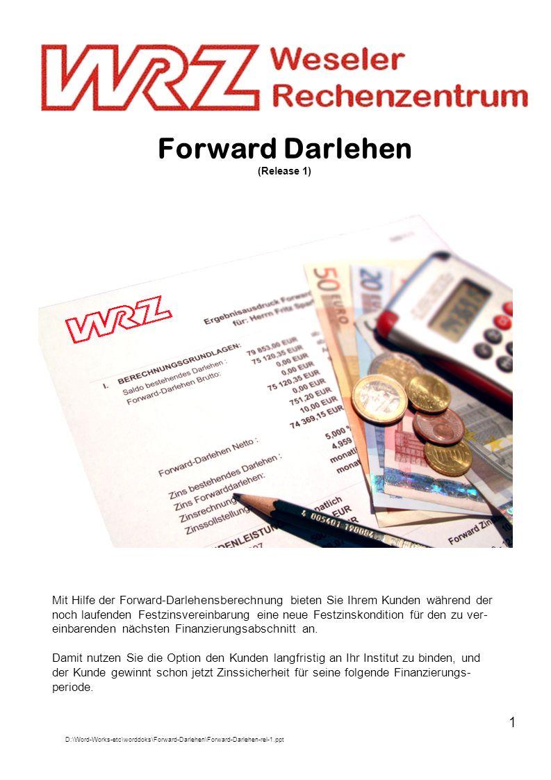 Forward Darlehen (Release 1)