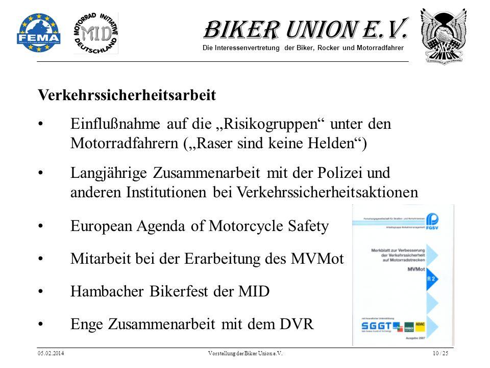 Vorstellung der Biker Union e.V.