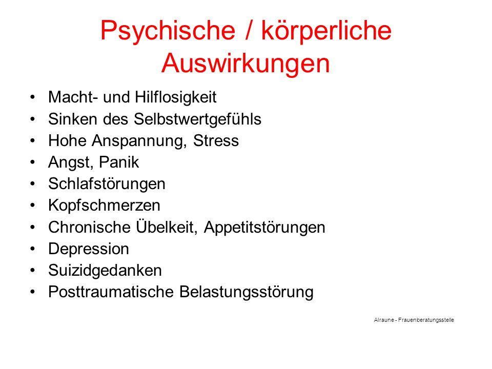 Psychische / körperliche Auswirkungen