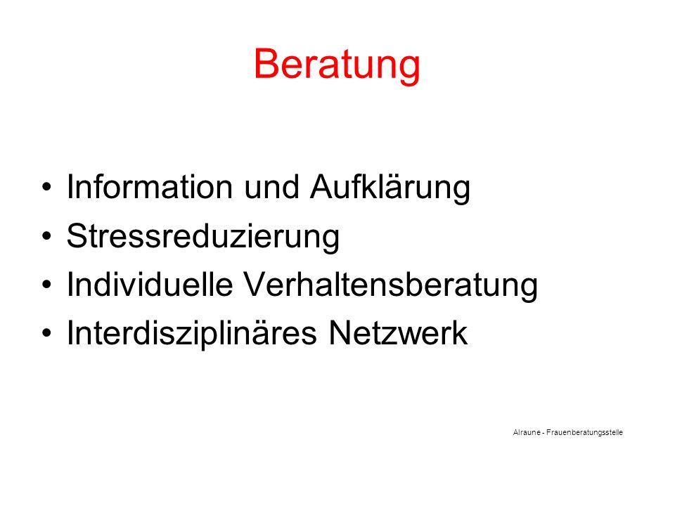 Beratung Information und Aufklärung Stressreduzierung