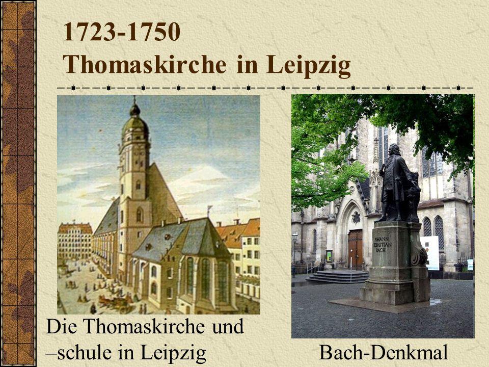 1723-1750 Thomaskirche in Leipzig