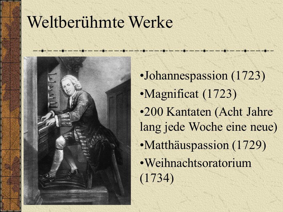 Weltberühmte Werke Johannespassion (1723) Magnificat (1723)