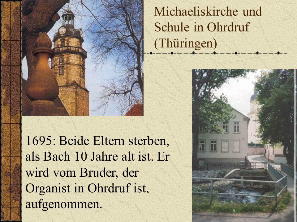 Michaeliskirche und Schule in Ohrdruf (Thüringen)