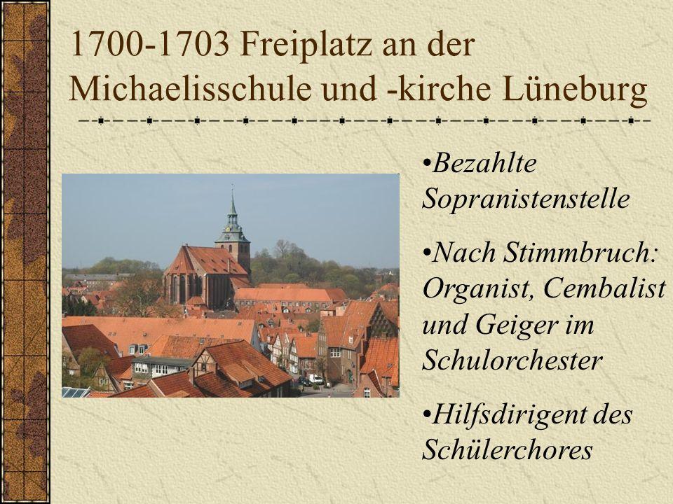 1700-1703 Freiplatz an der Michaelisschule und -kirche Lüneburg