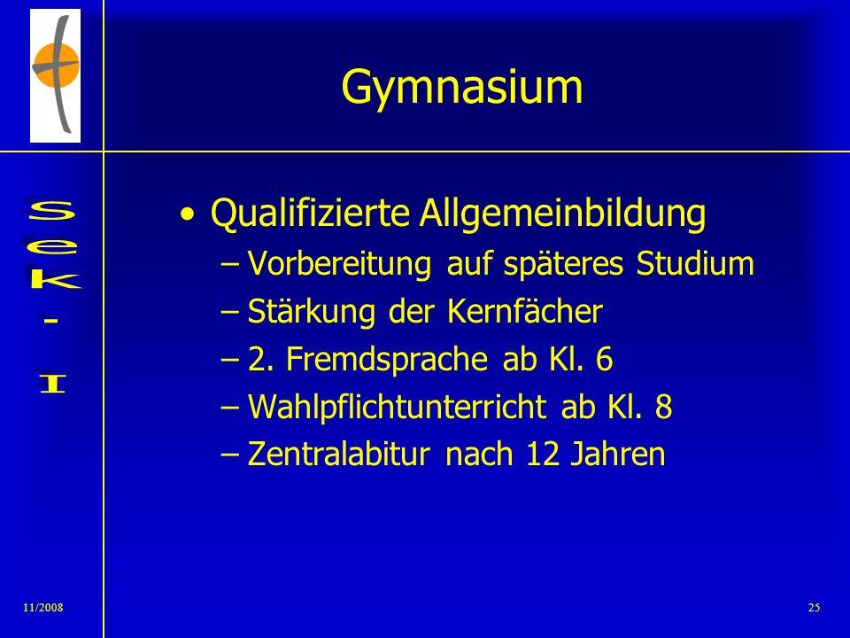 Gymnasium Qualifizierte Allgemeinbildung