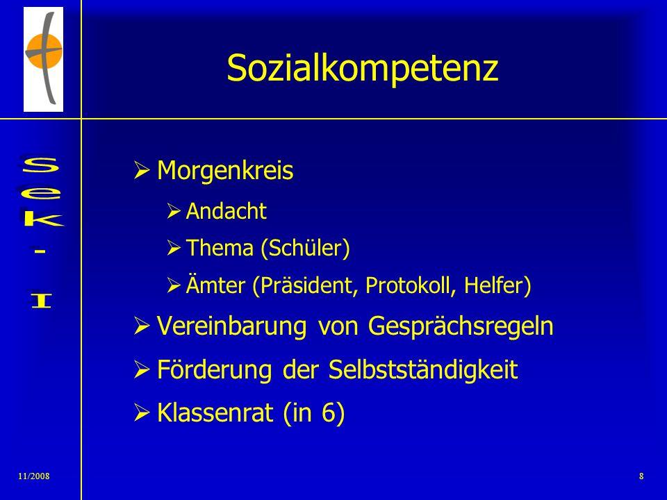 Sozialkompetenz Morgenkreis Vereinbarung von Gesprächsregeln