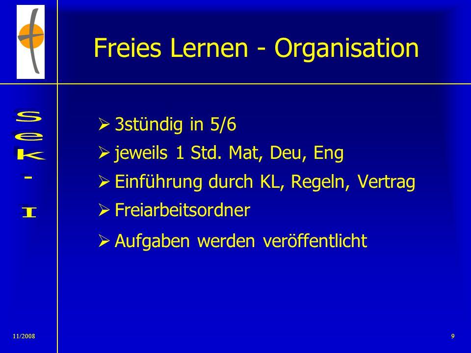 Freies Lernen - Organisation