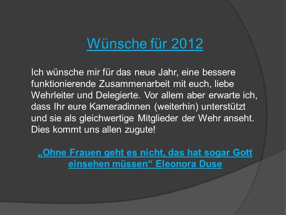 Wünsche für 2012