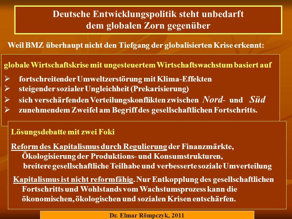 Deutsche Entwicklungspolitik steht unbedarft