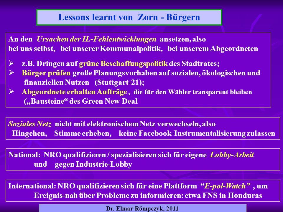Lessons learnt von Zorn - Bürgern