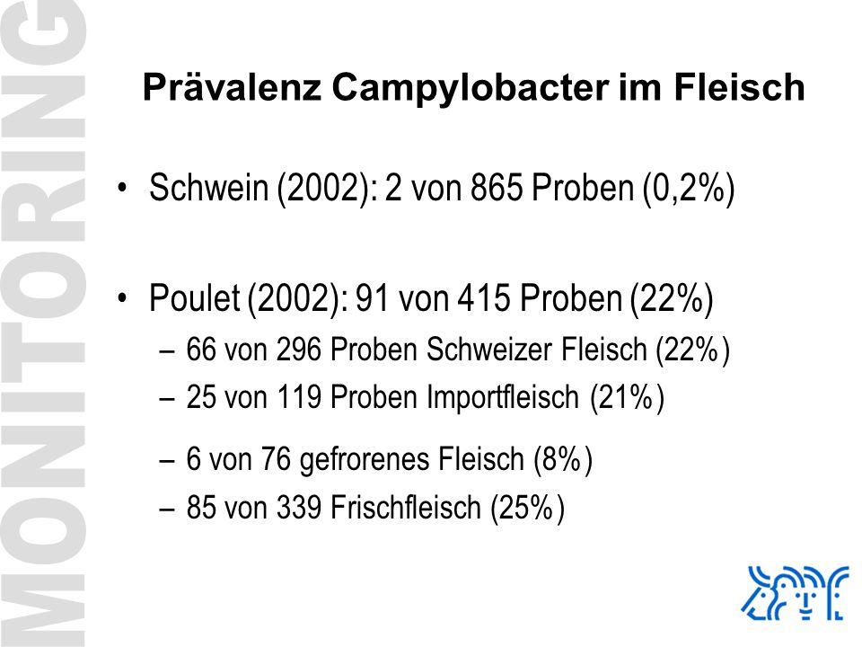 Prävalenz Campylobacter im Fleisch